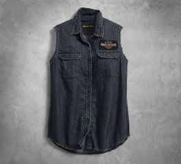 Harley-Davidson® Sleeveless Denim Shirt 96301-18VW