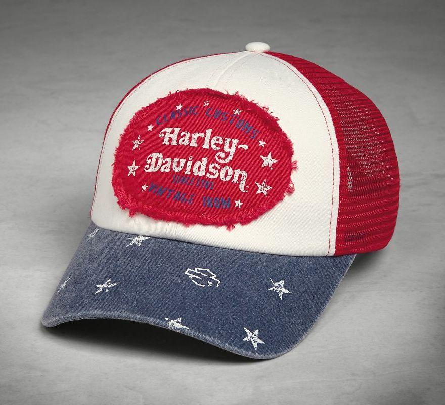 Harley-Davidson® Colorblock Americana Trucker Cap 97700-18VW ... 483695eb673d