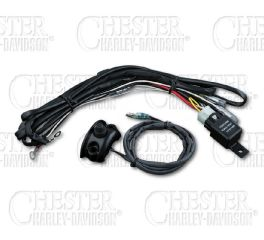 Kuryakyn Driving Light Wiring and Relay Kit with Control Mounted Switch K2203
