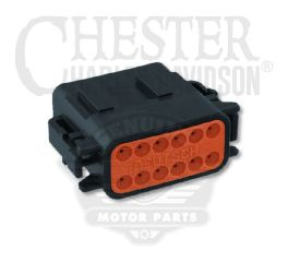 12-Way Socket Housing (Black)