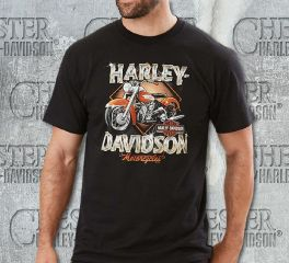 Harley-Davidson® Men's Black Why We Ride Short Sleeve Tee, Fanatics Licensed Sports Group, LLC 5L33-HH1L