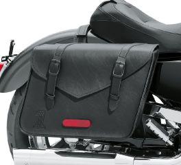 Harley-Davidson® Black Standard Line Large Throw-Over Saddlebags 90201770