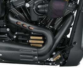 Harley-Davidson® Satin Black Exhaust Shield Kit 65400472