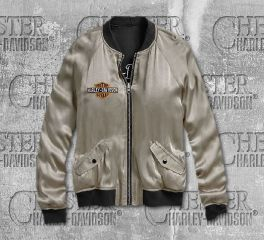 Harley-Davidson® Reversible Tiger Satin Bomber Jacket 96627-19VW