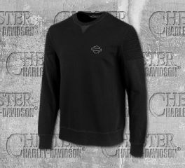 Harley-Davidson® Pintuck Shoulder Slim Fit Fleece Pullover 96510-19VM