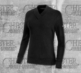 Harley-Davidson® Wool Blend V-Neck Sweater 96311-19VW