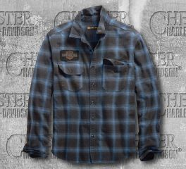 Harley-Davidson® Plaid Oak Leaf Slim Fit Shirt 99258-19VM