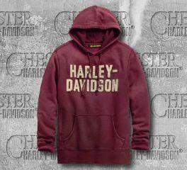 Harley-Davidson® Felt Lettering Slim Fit Pullover Hoodie 99180-19VM