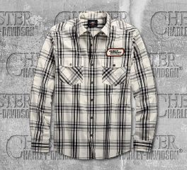 Harley-Davidson® H-D Racing Long Sleeve Plaid Shirt 99162-19VM