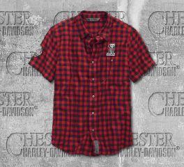 Harley-Davidson® Checked Plaid Slim Fit Shirt 99144-19VM