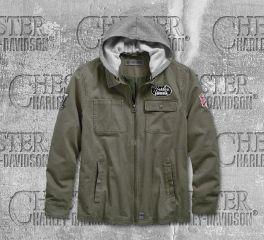 Harley-Davidson® Hooded Cotton Slim Fit Riding Jacket 98596-19VM