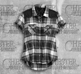 Harley-Davidson® Downswept Wing Plaid Shirt 99167-17VW
