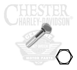 "Harley-Davidson® 1/4""-20 x 1-3/4"" UNC Hex Head Screw 94157-91T"