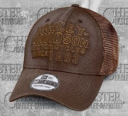 Harley-Davidson® Men's Washed 39THIRTY® Brown Baseball Cap 97770-19VM