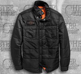 Harley-Davidson® Men's Quilted Slim Fit Shirt Jacket 97494-19VM