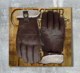 Harley-Davidson® Men's Brown Trently Leather Gloves 97139-19EM