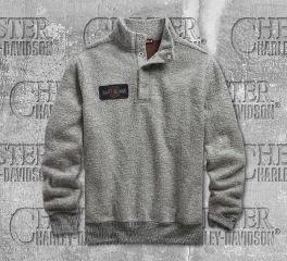 Harley-Davidson® Men's Grey Slim Fit Mockneck Sweater 96553-19VM