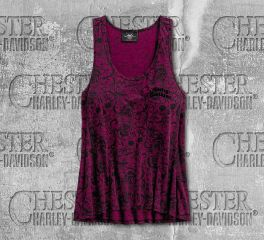 Harley-Davidson® Women's Allover Patterned Burnout Sleeveless Tank 96500-19VW