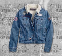 Harley-Davidson® Women's Sherpa Fleece Denim Jacket 96380-19VW