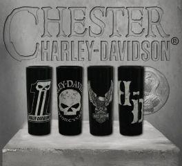 Harley-Davidson® Dark Custom Ceramic Shot Glasses, Global Products, Inc. SG25288