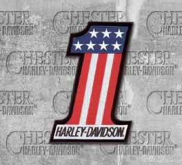 Harley-Davidson® Extra Small No. 1 Embroidered American Flag Patch, Global Products, Inc. EM227841