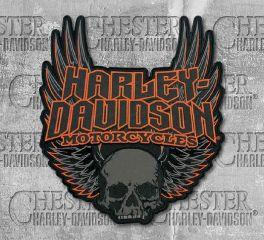 Harley-Davidson® Gothic Winged Skull Embroidered Emblem Patch, Global Products, Inc. EM108307