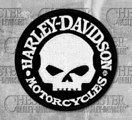 Harley-Davidson® Hubcap Skull Small Embroidered Patch, Global Products, Inc. EM1029882