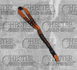 Harley-Davidson® Break Striped Bar & Shield® Lanyard, Global Products, Inc. LY25766