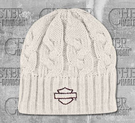 Harley-Davidson® Women's Embroidered Blank Bar & Shield® Knit Hat, Global Products, Inc. KN114415