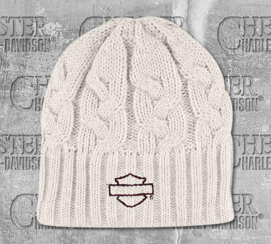 6f5c811e764e9 Harley-Davidson® Women s Embroidered Blank Bar   Shield® Knit Hat ...