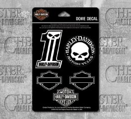 Harley-Davidson® Midnight Assortment Dome Decal Sheet, Global Products, Inc. DC1246