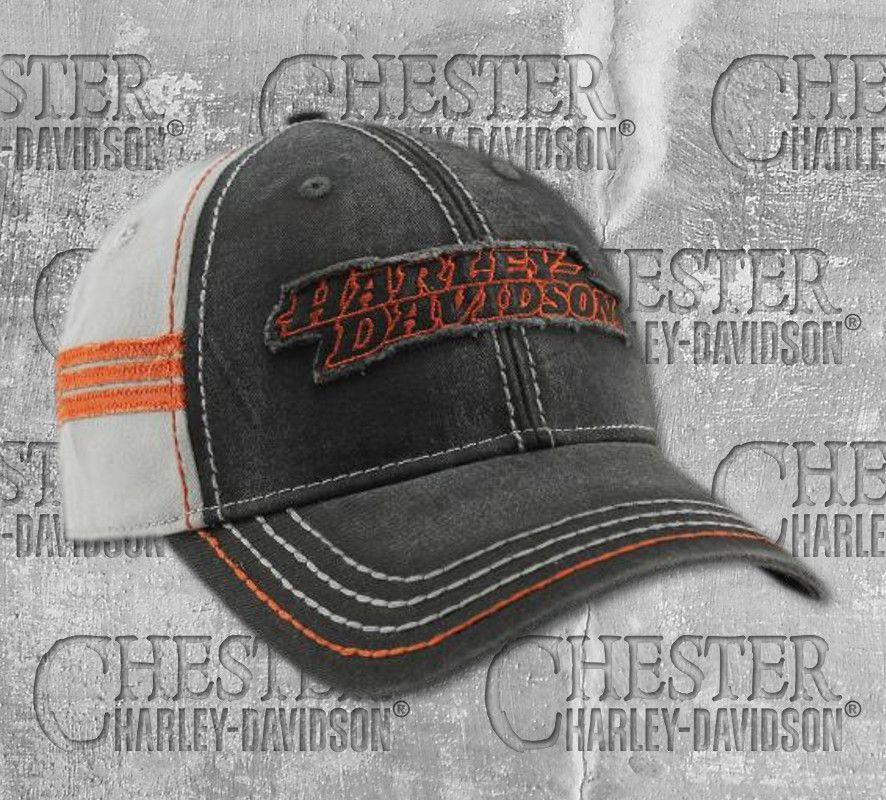 5ba8b4ee2b69f Harley-Davidson® Men s Embroidered Raw-Edge Restored Baseball Cap ...