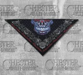 Harley-Davidson® Women's 3 in 1 Muertos Skull Fleece Bandana, Global Products, Inc. BAC30084