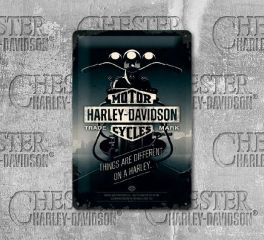 Harley-Davidson® Things Are Different Medium Tin Sign, Nostalgic Art 22256