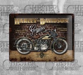 Harley-Davidson® Brick Wall Advertising Tin Sign, Nostalgic Art 23124