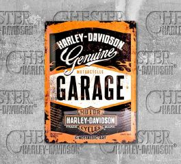 Harley-Davidson® Multicolored Garage Tin Sign, Nostalgic Art 23188