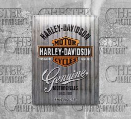 Harley-Davidson® Metal Vintage Retro Tin Sign, Nostalgic Art 23250