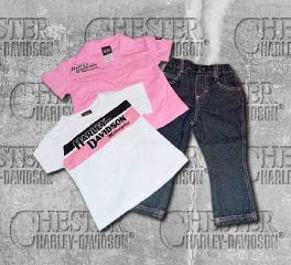 Harley-Davidson® Little Girl's 3 Piece Set Prestige Tee and Denim Pant, OkisOnent GmbH 0322346