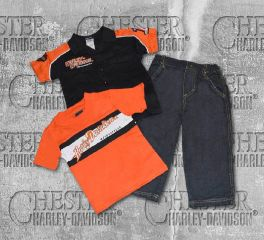 Harley-Davidson® Little Boy's 3 Piece Set Prestige Tee and Denim Pant, OkisOnent GmbH 0372344