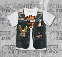 Harley-Davidson® Little Boy's Printed-On Motorcycle Vest Short Sleeve Tee, OkisOnent GmbH 1082625