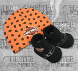 Harley-Davidson® Baby Boy's Beanie and Biker Booties Set, OkisOnent GmbH 7050879