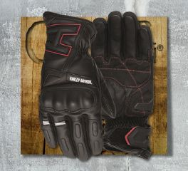 Harley-Davidson® Men's Black Biltmore Full Finger Gloves 97125-19EM