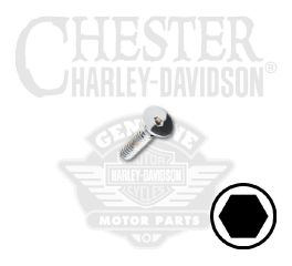 "Harley-Davidson® No. 8-32 x 5/8"" UNC Flat Head Hex Socket Screw 94225-00"