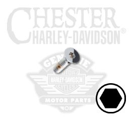 "Harley-Davidson® No. 10-24 x 1/2"" UNC Flat Head Hex Socket Screw 94226-00"