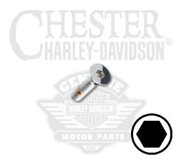 "Harley-Davidson® No. 10-24 x 3/4"" Flat Head Hex Socket Screw 94227-00"