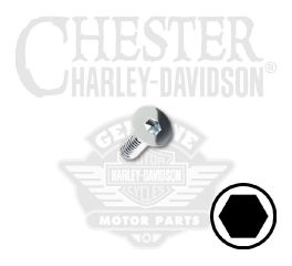"Harley-Davidson® No. 8-32 x 1/2"" UNC Flat Head Hex Socket Screw 94228-00"