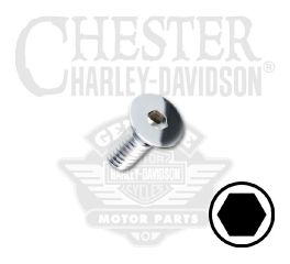 "Harley-Davidson® 1/4""-20 x 5/8"" UNC Flat Head Hex Socket Screw 94230-00"