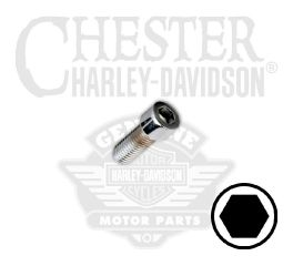 "Harley-Davidson® 1/4""-28 x 1/2"" UNF Smooth Hex Socket Head Screw 94322-92TS"