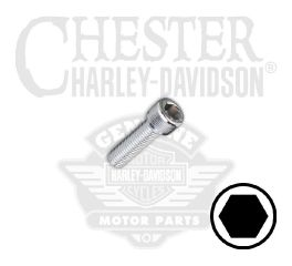 "Harley-Davidson® 1/4""-28 x 5/8"" UNF Hex Socket Head Screw 94323-92T"