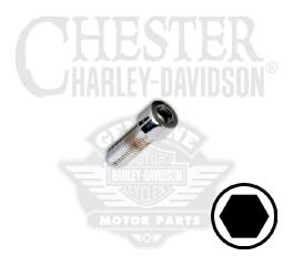 "Harley-Davidson® 1/4""-28 x 5/8"" UNF Smooth Hex Socket Head Screw 94323-92TS"